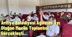 Arifiye Belediyesi Ağustos Ayı Olağan Meclis Toplantısı Gerçekleşti.
