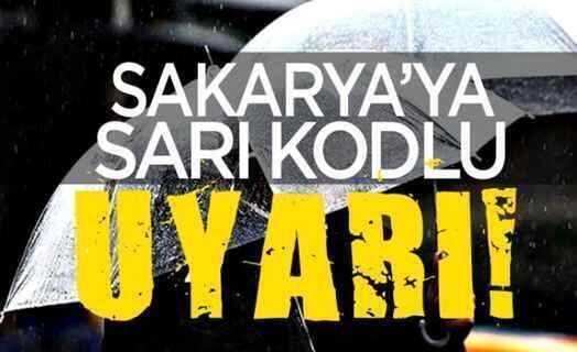 Meteorolojiden Sakarya İçin Sarı Kodlu Uyarı.