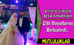 Ayşen ile Sefa Gökdemir çifti dünya evine girdi.