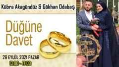 Kübra Akagündüz & Gökhan Odabaş Çifti Düğün Davet…