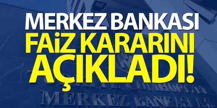Merkez Bankası Faiz Kararını Açıkladı..