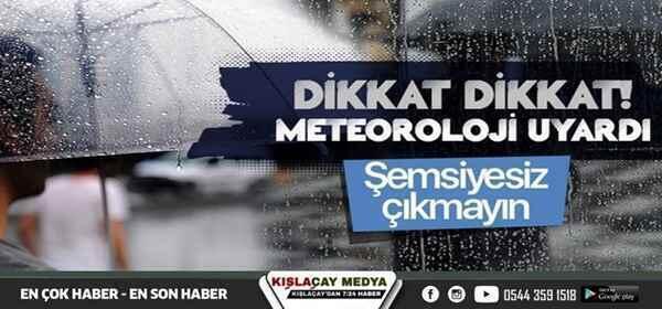 Meteoroloji'den uyarı geldi, Sakarya'da bu akşama dikkat!
