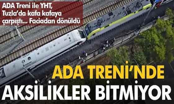 Faciadan dönüldü: YHT ile Ada Treni kafa kafaya geldi
