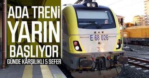 'Ada treni' yarın yeniden hizmet vermeye başlayacak.