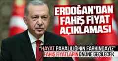 Cumhurbaşkanı Erdoğan fahiş fiyatlara ilişkin konuştu.