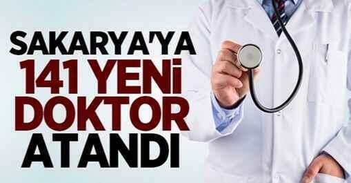 Sakarya'ya 141 yeni doktor atandı!