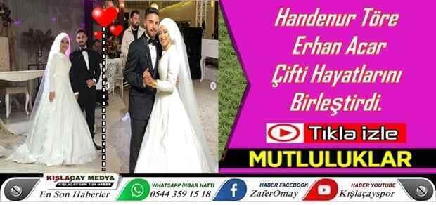 Handenur Töre & Erhan Acar Çifti Hayatlarını Birleştirdi.