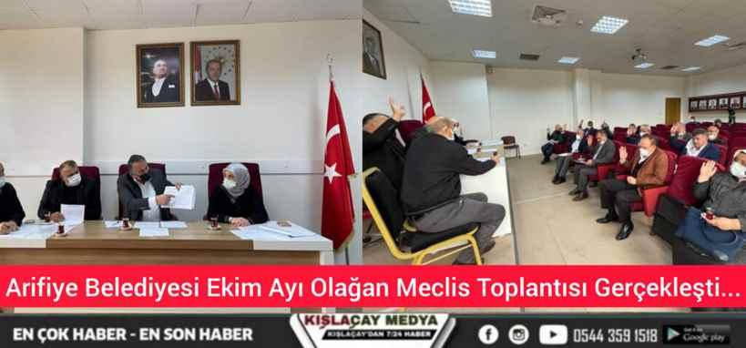 Arifiye Belediyesi Ekim Ayı Olağan Meclis Toplantısı Gerçekleşti…