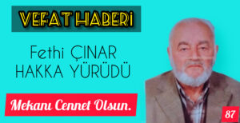 Doğançay Mahallesi Muhtarı Murat Çınar'ın Baba Acısı!Kaybetti…