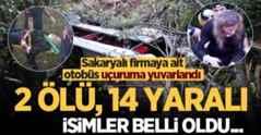 Sakaryalı firmaya ait otobüs kaza yaptı! 2 ölü, 14 yaralı… İsimler belli oldu