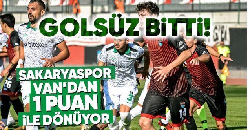 Sakaryaspor-Vanspor: 0-0